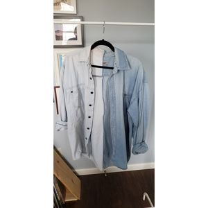 Vintage Spliced Chambray Button-Down